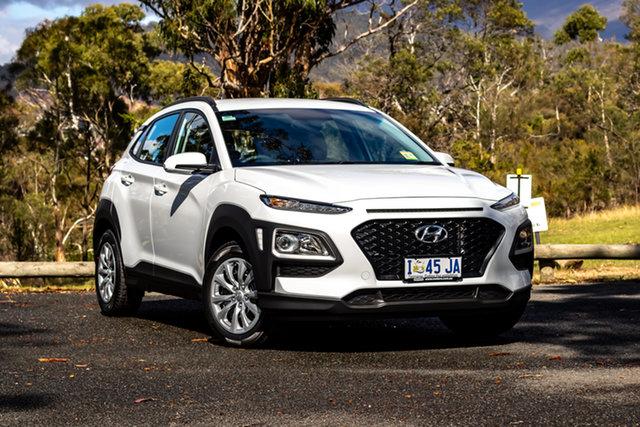 Demo Hyundai Kona OS.2 MY19 Go D-CT AWD, 2019 Hyundai Kona OS.2 MY19 Go D-CT AWD Chalk White 7 Speed Sports Automatic Dual Clutch Wagon
