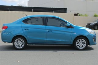 2014 Mitsubishi Mirage LA MY15 ES Blue 1 Speed Constant Variable Sedan.