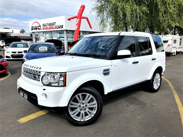 Used Land Rover Discovery 4 Series 4 MY12 SDV6 CommandShift SE, 2012 Land Rover Discovery 4 Series 4 MY12 SDV6 CommandShift SE White 6 Speed Sports Automatic Wagon