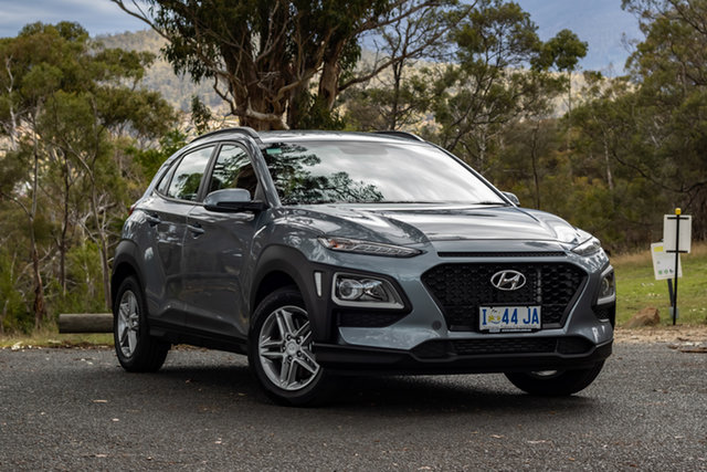 Demo Hyundai Kona OS.2 MY19 Active D-CT AWD, 2019 Hyundai Kona OS.2 MY19 Active D-CT AWD Lake Silver 7 Speed Sports Automatic Dual Clutch Wagon