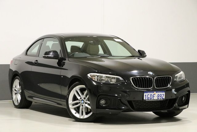 Used BMW 220i F22 MY16 M Sport, 2016 BMW 220i F22 MY16 M Sport Black Sapphire 8 Speed Automatic Coupe