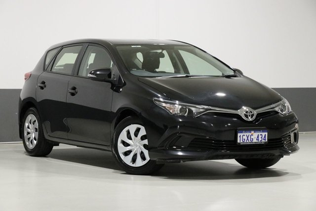 Used Toyota Corolla ZRE182R MY17 Ascent, 2017 Toyota Corolla ZRE182R MY17 Ascent Black 7 Speed CVT Auto Sequential Hatchback