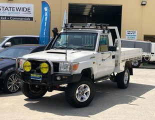 2009 Toyota Landcruiser VDJ79R MY10 Workmate White 5 Speed Manual Cab Chassis