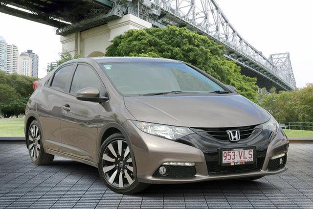 Used Honda Civic 9th Gen MY14 VTi-LN, 2014 Honda Civic 9th Gen MY14 VTi-LN Bronze 5 Speed Sports Automatic Hatchback