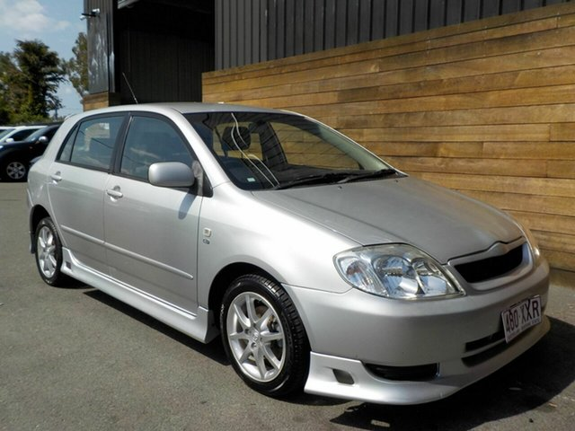 Used Toyota Corolla ZZE122R Conquest, 2002 Toyota Corolla ZZE122R Conquest Silver 5 Speed Manual Hatchback