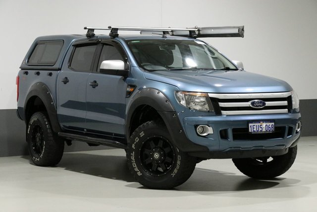 Used Ford Ranger PX XLS 3.2 (4x4), 2015 Ford Ranger PX XLS 3.2 (4x4) Blue 6 Speed Automatic Dual Cab Utility