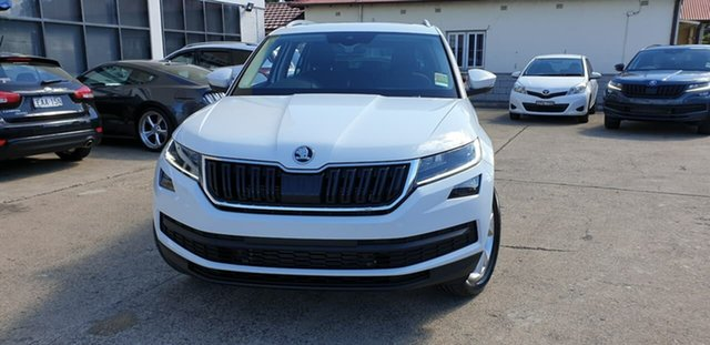 New Skoda Kodiaq NS MY19 132TSI DSG, 2019 Skoda Kodiaq NS MY19 132TSI DSG White 7 Speed Sports Automatic Dual Clutch Wagon