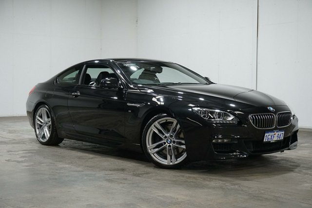 Used BMW 6 Series F13 MY0713 640i Steptronic, 2014 BMW 6 Series F13 MY0713 640i Steptronic Black 8 Speed Sports Automatic Coupe