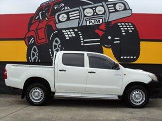 2014 Toyota Hilux KUN26R MY14 SR Double Cab Glacier White 5 Speed Automatic Utility.