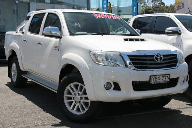 Used Toyota Hilux KUN26R MY14 SR5 Double Cab, 2014 Toyota Hilux KUN26R MY14 SR5 Double Cab White 5 Speed Automatic Utility
