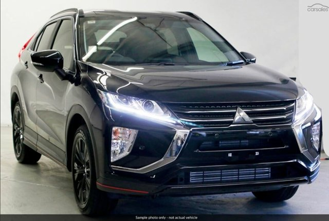 Demo Mitsubishi Eclipse Cross YA MY19 Black Edition 2WD, 2019 Mitsubishi Eclipse Cross YA MY19 Black Edition 2WD Black 8 Speed Wagon