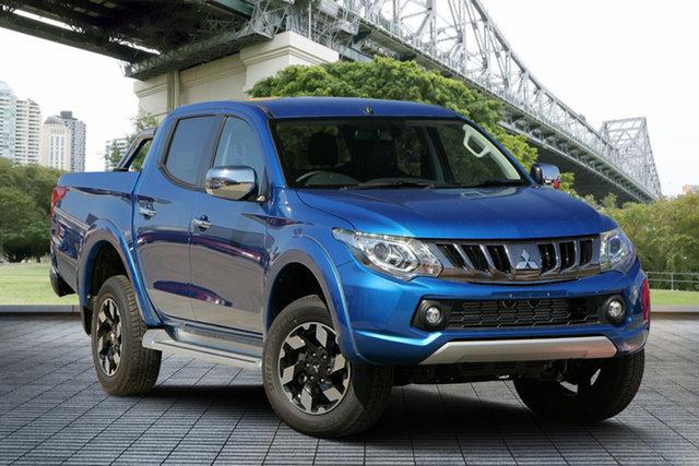 Used Mitsubishi Triton MQ MY18 Exceed Double Cab, 2018 Mitsubishi Triton MQ MY18 Exceed Double Cab Blue 5 Speed Sports Automatic Utility