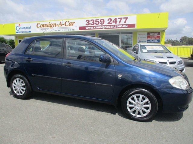 Used Toyota Corolla ZZE122R Ascent, 2002 Toyota Corolla ZZE122R Ascent Blue 4 Speed Automatic Hatchback