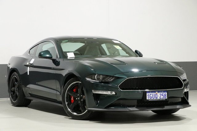 Used Ford Mustang FN Fastback Bullitt, 2019 Ford Mustang FN Fastback Bullitt Highland Green 6 Speed Manual Coupe