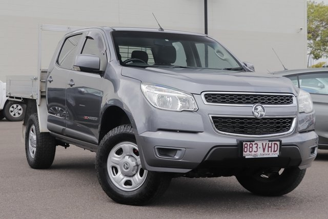 Used Holden Colorado RG MY14 LX Crew Cab, 2014 Holden Colorado RG MY14 LX Crew Cab Grey 6 Speed Sports Automatic Cab Chassis