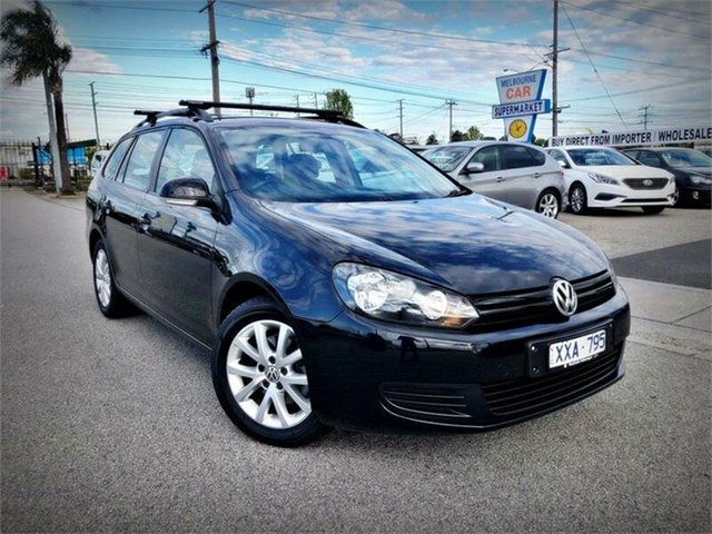 Used Volkswagen Golf VI 90TSI Trendline, 2010 Volkswagen Golf VI 90TSI Trendline Black Sports Automatic Dual Clutch Wagon