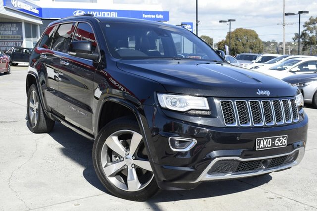 Used Jeep Grand Cherokee WK MY15 Overland, 2016 Jeep Grand Cherokee WK MY15 Overland Black 8 Speed Sports Automatic Wagon