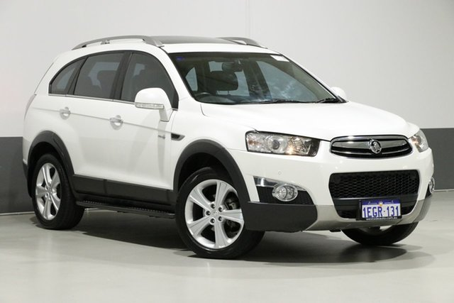Used Holden Captiva CG MY13 7 LX (4x4), 2013 Holden Captiva CG MY13 7 LX (4x4) White 6 Speed Automatic Wagon