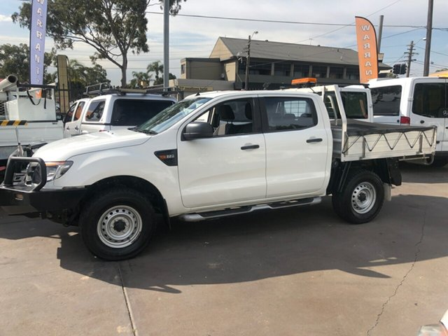 Used Ford Ranger PX XL 2.2 (4x4), 2015 Ford Ranger PX XL 2.2 (4x4) White 6 Speed Automatic Crew Cab Chassis