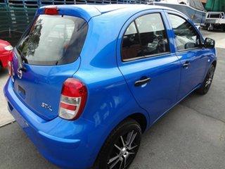 2011 Nissan Micra K13 ST-L Blue 4 Speed Automatic Hatchback.