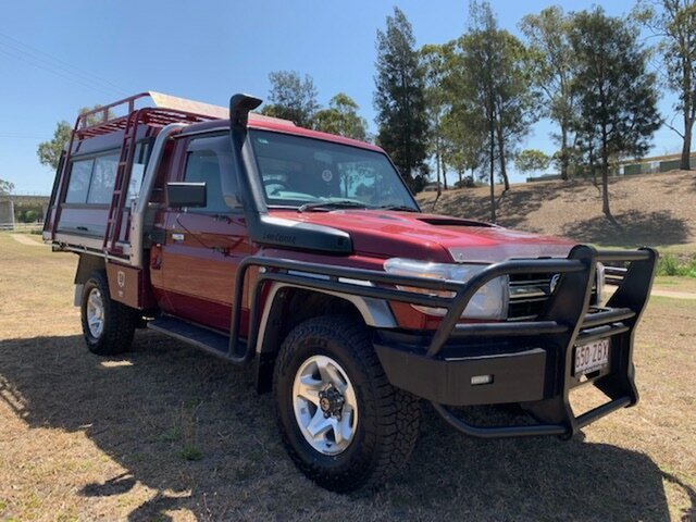 Used Toyota Landcruiser VDJ79R 09 Upgrade GXL (4x4), 2009 Toyota Landcruiser VDJ79R 09 Upgrade GXL (4x4) Merlot Red 5 Speed Manual Cab Chassis
