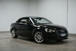 2015 Audi A3 8V MY15 Attraction S Tronic Black 7 Speed Sports Automatic Dual Clutch Cabriolet.