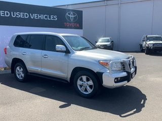 2014 Toyota Landcruiser VDJ200R MY13 Sahara (4x4) Silver Pearl 6 Speed Automatic Wagon.