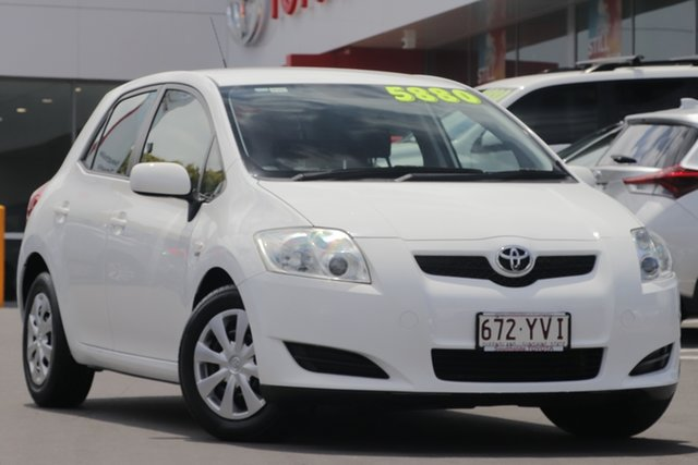 Used Toyota Corolla ZRE152R Ascent, 2008 Toyota Corolla ZRE152R Ascent White 4 Speed Automatic Hatchback
