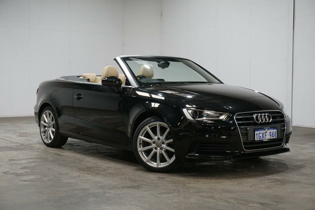Used Audi A3 8V MY15 Attraction S Tronic, 2015 Audi A3 8V MY15 Attraction S Tronic Black 7 Speed Sports Automatic Dual Clutch Cabriolet