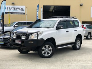 2012 Toyota Landcruiser Prado KDJ150R GX White 6 Speed Manual Wagon.