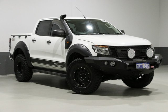 Used Ford Ranger PX XL 2.2 (4x4), 2012 Ford Ranger PX XL 2.2 (4x4) White 6 Speed Manual Crew Cab Utility