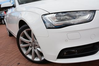 2012 Audi A4 B8 8K MY13 S Tronic Quattro White 7 Speed Sports Automatic Dual Clutch Sedan.