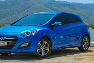 2015 Hyundai i30 GD4 Series II MY16 Active X Blue 6 Speed Sports Automatic Hatchback