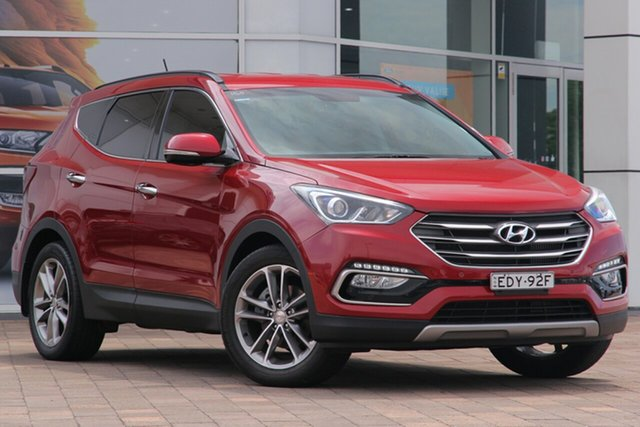 Used Hyundai Santa Fe DM3 MY16 Elite, 2015 Hyundai Santa Fe DM3 MY16 Elite Burgundy 6 Speed Sports Automatic SUV