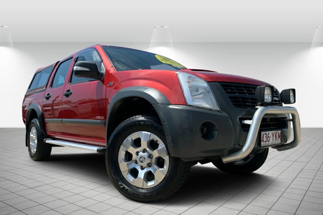 Used Holden Rodeo RA MY08 LX Crew Cab, 2008 Holden Rodeo RA MY08 LX Crew Cab Red 4 Speed Automatic Utility
