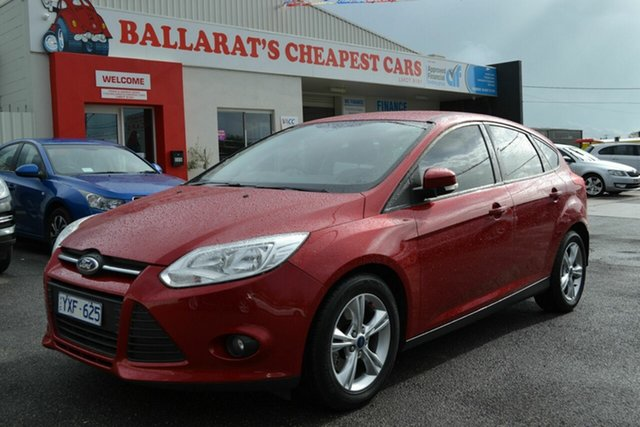 Used Ford Focus LW MK2 Trend, 2012 Ford Focus LW MK2 Trend Red 6 Speed Automatic Hatchback