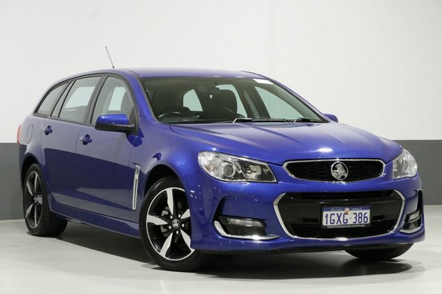 Used Holden Commodore VF II MY17 SV6, 2017 Holden Commodore VF II MY17 SV6 Blue 6 Speed Automatic Sportswagon