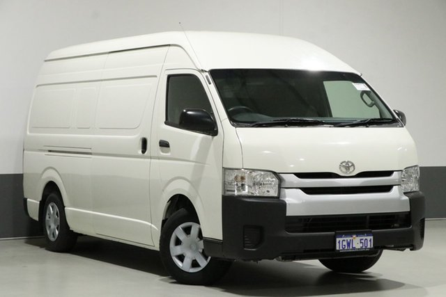 Used Toyota HiAce KDH221R MY14 SLWB, 2014 Toyota HiAce KDH221R MY14 SLWB White 4 Speed Automatic Van