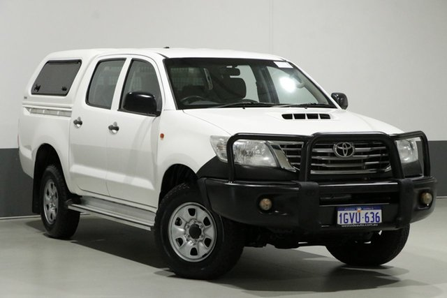Used Toyota Hilux KUN26R MY12 SR (4x4), 2013 Toyota Hilux KUN26R MY12 SR (4x4) White 4 Speed Automatic Dual Cab Pick-up