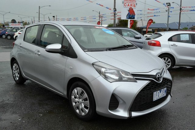 Used Toyota Yaris NCP130R MY15 Ascent, 2015 Toyota Yaris NCP130R MY15 Ascent Silver 4 Speed Automatic Hatchback