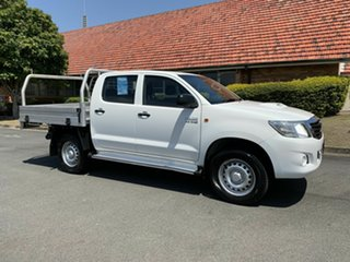 2014 Toyota Hilux KUN26R SR White 5 Speed Automatic Dual Cab.