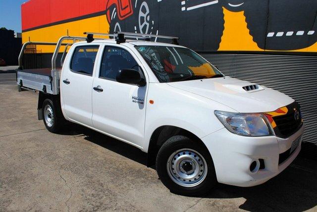 Used Toyota Hilux KUN16R MY14 SR Double Cab 4x2, 2015 Toyota Hilux KUN16R MY14 SR Double Cab 4x2 Glacier White 5 Speed Manual Utility