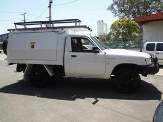 2011 Nissan Patrol MY11 Upgrade DX (4x4) White 5 Speed Manual Leaf Cab Chassis.