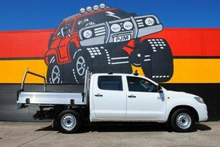 2015 Toyota Hilux KUN16R MY14 SR Double Cab 4x2 Glacier White 5 Speed Manual Utility.