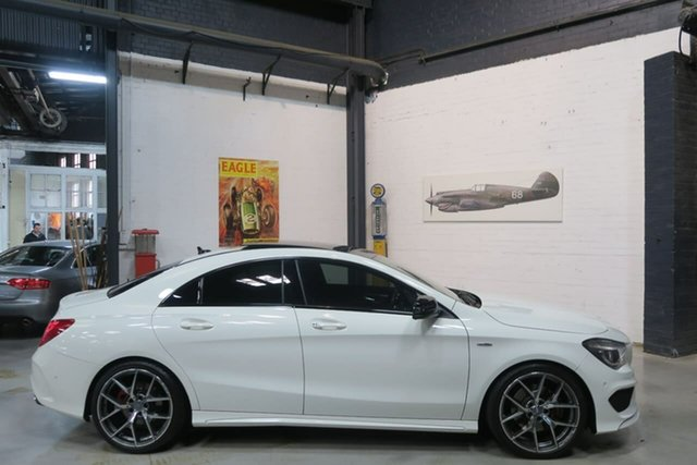 Used Mercedes-Benz CLA-Class C117 806MY CLA250 DCT 4MATIC Sport, 2015 Mercedes-Benz CLA-Class C117 806MY CLA250 DCT 4MATIC Sport White 7 Speed