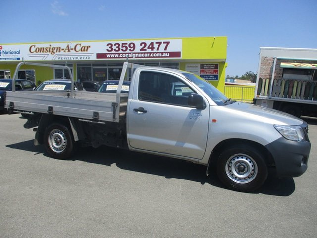 Used Toyota Hilux TGN16R MY14 Workmate 4x2, 2014 Toyota Hilux TGN16R MY14 Workmate 4x2 Silver 4 Speed Automatic Cab Chassis