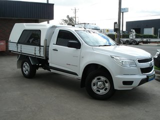 2014 Holden Colorado RG MY14 DX Summit White 6 Speed Manual Cab Chassis.