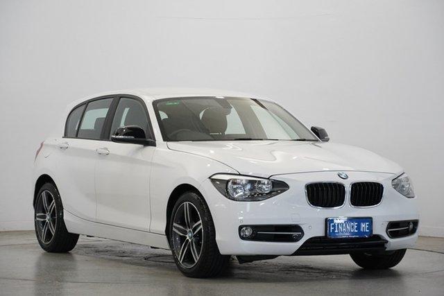 Used BMW 1 Series F20 MY0713 118i Steptronic, 2014 BMW 1 Series F20 MY0713 118i Steptronic White 8 Speed Sports Automatic Hatchback