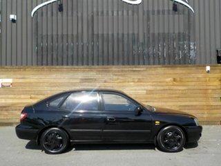 2003 Hyundai Elantra XD MY04 Black 4 Speed Automatic Hatchback.