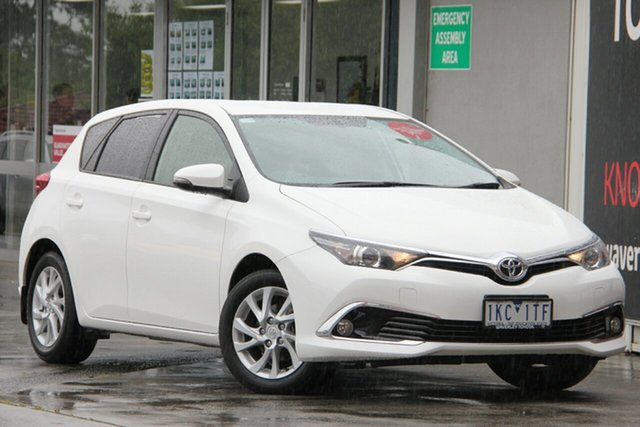Used Toyota Corolla ZRE182R Ascent Sport S-CVT, 2017 Toyota Corolla ZRE182R Ascent Sport S-CVT Glacier White 7 Speed Constant Variable Hatchback